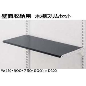 壁面収納 木棚スリムセット W450×D300 |nakasa2