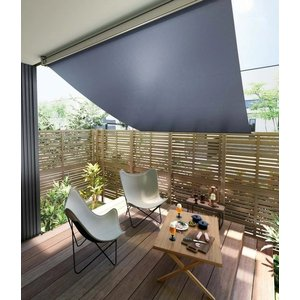 日よけ シェード サンシェード /スタイルシェード外付けスクリーン 15011(単体引違い・シャッター・雨戸サッシ専用)W1670×H1210 トステム|nakasa2