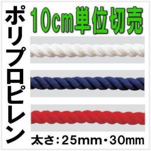 カラーロープ 10cm単位 切売り(ポリプロピレン製) 廃番予定のため在庫のみの手配|nakasa2