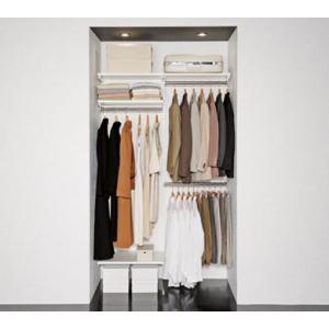 クローゼット収納をDIYで簡単取り付け、壁面収納システム 【壁収納】【ダボレール】【シェルフ】【壁付...