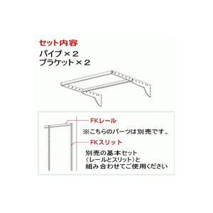 壁面収納 Wパイプセット WP W450×D550 /ウォールシェルフ|nakasa3|02