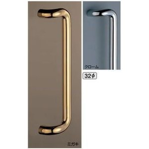 L型丸棒取手(両面用)32φ/真鍮ドア取手 |nakasa3
