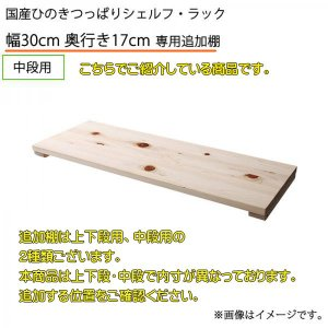 こちらでご紹介している商品は、 ■シェルフ・ラック[幅30cm ・奥行17cm]の 専用追加棚(中段...