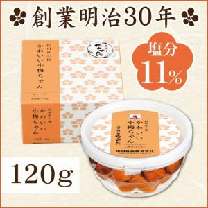 梅干し 小梅 かわいい小梅ちゃん 120g 中田食品 梅干 田舎漬 塩分11% 紀州|nakatafoods