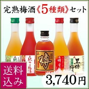 お中元 ギフト 2021 南高梅 梅酒 5種詰合せ 紀州の梅酒 飲みくらべセット 送料込み nakatafoods