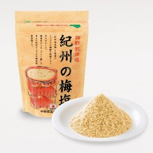 紀州の梅塩 250g 中田食品 梅風味の塩 調味料 しっとりタイプ|nakatafoods