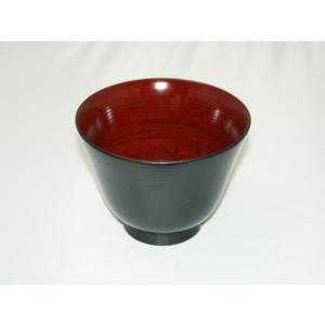 刷毛千筋 かゆ椀 黒|nakayakeitei