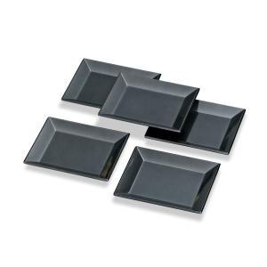 メタル  5寸長角皿揃え(5枚組)|nakayakeitei