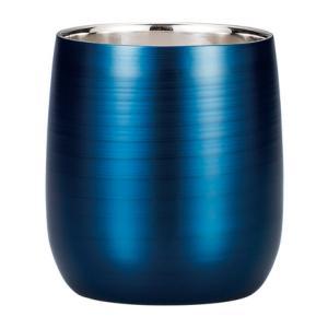 漆磨カップ(二重ロックカップだるま パール藍)|nakayakeitei