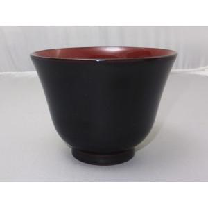 食洗機対応 MR漆 かゆ椀 溜内朱|nakayakeitei