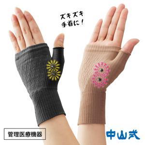 手首や手のひら全体を着圧でがっちり固定しつつ、内蔵した4つの磁気の力で血行を改善しコリをほぐします。...