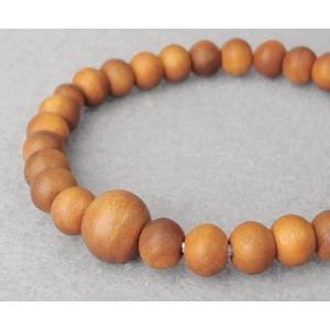 【送料無料♪】  数珠ブレスレット  木製 ブレスレット   白檀 6ミリ玉 サンダルウッド  京念...