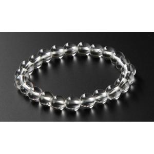 数珠ブレスレット パワーストーンブレスレット 本水晶 8ミリ...