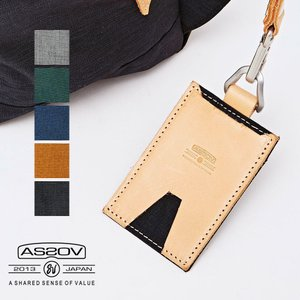 AS2OV (アッソブ) CORDURA SPAN 600D PASS CASE カードケース パスケース 薄型 革 ナイロン 定期入れ レディース メンズ|nakota