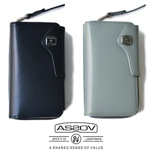 AS2OV (アッソブ)?GLASS LEATHER MOBILE WALLET ケース スマホケース iphone7 iphone8 メンズ レディース|nakota