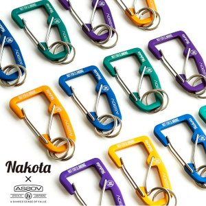 nakota×AS2OV ナコタ アッソブ DOUBLE FOOK CARABINER ダブルフックカラビナ キーホルダー キーリング メンズ レディース プレゼント ギフト|nakota