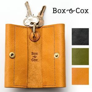 Box & Cox ( ボックス&コックス ) レザーキーケース wrap 日本製 キーホルダー 革 プレゼント  メンズ レディース プレゼント|nakota