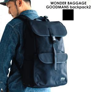 WONDER BAGGAGE ワンダーバゲージ GOODMANS backpack2 グッドマンズバックパック リュック カバン メンズ レディース おしゃれ ブラック|nakota