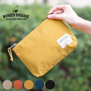 ポーチ 小物入れ WONDER BAGGAGE ワンダーバゲージ SUNNY Relax dairy pouch メンズ レディース 大きめ|nakota
