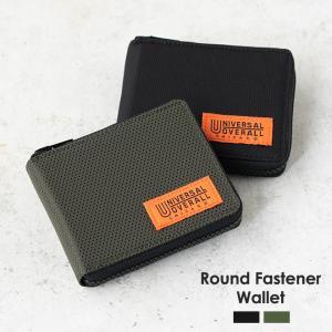 UNIVERSAL OVERALL ユニバーサルオーバーオール ラウンドファスナーウォレット 二つ折り財布 メンズ レディース 折りたたみ nakota