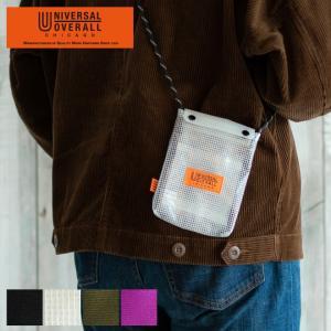 UNIVERSAL OVERALL ユニバーサルオーバーオール トラベルポーチ フラップネックポーチ 財布 コインケース ナイロン 丈夫 耐久性 パスポートケース 旅行|nakota