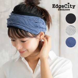 EdgeCity エッジシティー Like a water Gauze Organic Cotton HB リバーシブルオーガニックコットンヘアバンド ヘアターバン メンズ レディース スポーツ 運動|nakota