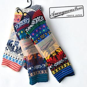 ANONYMOUS ISM(アノニマスイズム)グアテマランクルーソックス 靴下 メンズ 日本製|nakota
