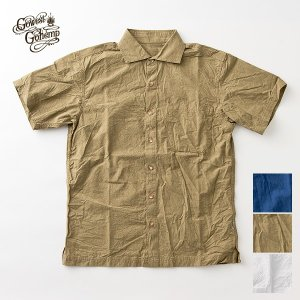 GO WEST ゴーウェスト WIDE SPREAD SHIRTS 硫化  TRIPLE WASH BD シャツ 半袖 セール|nakota