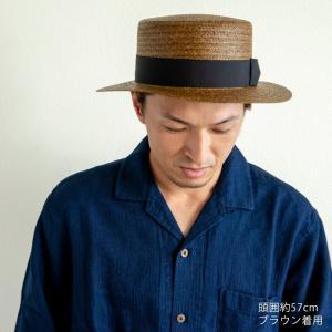HIGHER ハイヤー ペーパーカンカン帽 ストローハット 麦わら レディース nakota 03