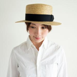 HIGHER ハイヤー ペーパーカンカン帽 ストローハット 麦わら レディース nakota 07