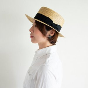 HIGHER ハイヤー ペーパーカンカン帽 ストローハット 麦わら レディース nakota 08