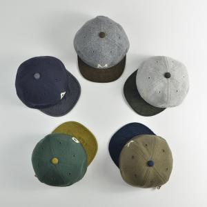HIGHER (ハイヤー) ロゴ入り スウェットキャップ メンズ レディース 帽子 日本製 コーデュロイ nakota 04