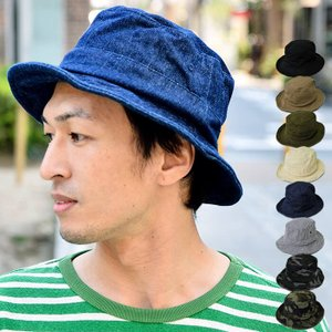 nakota ナコタ スタンダードワイヤーバケットハット 帽子 メンズ レディース ユニセックス 単色 迷彩 カモ ストライプ ヒッコリー|nakota