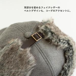 帽子 耳付きファー フライトキャップ アビエイターキャップ nakota ナコタ スウェード 大きいサイズ 防寒 nakota 05