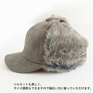 帽子 耳付きファー フライトキャップ アビエイターキャップ nakota ナコタ スウェード 大きいサイズ 防寒 nakota 07