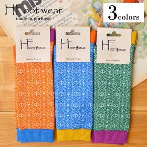 H-Foot wear (エイチフットウェア)  ポルトガル食器のような花柄パターンの靴下 くつ下 ソックス|nakota