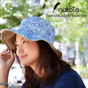 Nakota (ナコタ) リバーシブル アクティビティ バケット ハット 帽子 つば広62cm 大きい UVカット メンズ レディース セール|nakota