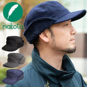 nakota ナコタ FLIP-DOWN ファーウールワークキャップ 帽子 キャップ 耳付き 男女兼用 メンズ レディース|nakota