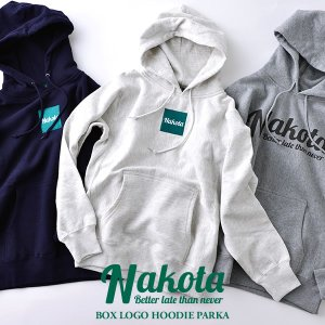 nakota ナコタ box logo hoodie parka ロゴ フーデッド スウェット プルオーバー パーカー 12.0オンス|nakota