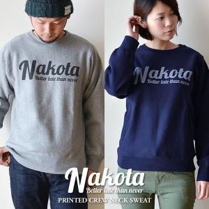 nakota ナコタ printed crew neck sweat プリント クルーネック スウェット 12.0オンス|nakota
