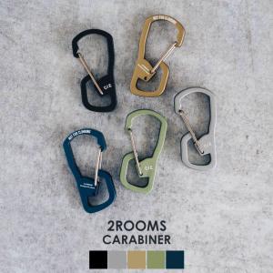 CIE シー 2ROOMS CARABINER ツールームカラビナ リング 鍵 キーホルダー キーリング アルミニウム 日本製 おしゃれ プレゼント ギフト 2個セット|nakota