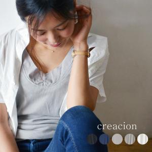 creacion クレアシオン 100/2ギザコットン テレコ スリーブレス カットソー タンクトップ インナー レディース|nakota