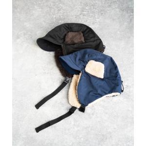 nakota ナコタ 撥水ナイロンフライトキャップ アビエイターキャップ 帽子 メンズ レディース ボア 防寒 冬|nakota|12