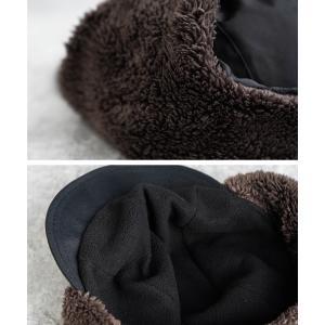 nakota ナコタ 撥水ナイロンフライトキャップ アビエイターキャップ 帽子 メンズ レディース ボア 防寒 冬|nakota|14