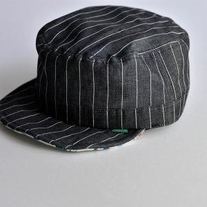 ワークキャップ 帽子 メンズ レディース レールキャップ キャップ 大きいサイズ ビックサイズ nakota ナコタ アクティビティ デニム ストライプ プレゼント|nakota|02