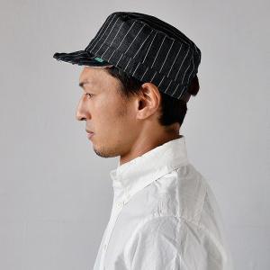 ワークキャップ 帽子 メンズ レディース レールキャップ キャップ 大きいサイズ ビックサイズ nakota ナコタ アクティビティ デニム ストライプ プレゼント|nakota|11