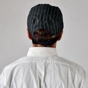 ワークキャップ 帽子 メンズ レディース レールキャップ キャップ 大きいサイズ ビックサイズ nakota ナコタ アクティビティ デニム ストライプ プレゼント|nakota|12