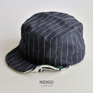ワークキャップ 帽子 メンズ レディース レールキャップ キャップ 大きいサイズ ビックサイズ nakota ナコタ アクティビティ デニム ストライプ プレゼント|nakota|13