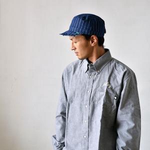 ワークキャップ 帽子 メンズ レディース レールキャップ キャップ 大きいサイズ ビックサイズ nakota ナコタ アクティビティ デニム ストライプ プレゼント|nakota|09