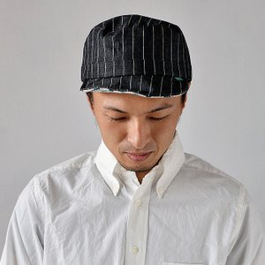 ワークキャップ 帽子 メンズ レディース レールキャップ キャップ 大きいサイズ ビックサイズ nakota ナコタ アクティビティ デニム ストライプ プレゼント|nakota|10